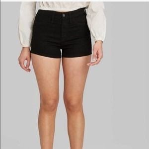 Wild fable black high rise jean shorts-
